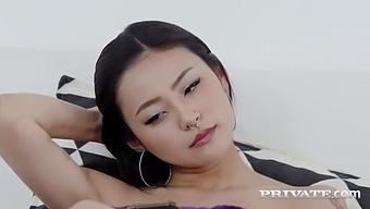 Private Com - Juicy Japanese Rae Lil Black Gets Oriental Orifice Fucked!