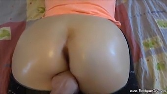 Stepsister Offered Me To Fuck Her Juicy Big Oiled Ass