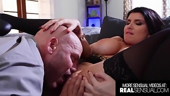 Stunning Milf Romi Rain Throating And Fucking A Huge Cock
