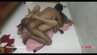 Desi Village Telugu Wife Seducing Husband On Floor