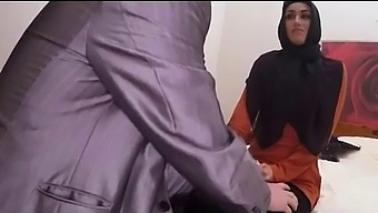 Head Scarfed Arab Teen Dirty Sucking On Strangers Thick Dong