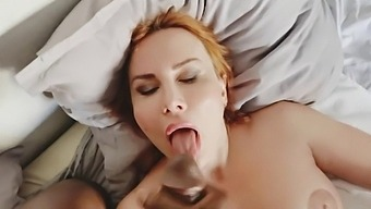 Redhead Whore Brought A Black Guy To Her Home. Part 2