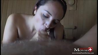 Teeny Sara Plays Hot Cum Games In The Sauna - Spm Sara23tr05