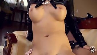 Angela White - Latex Hardcore Lesbian Sex With Asa Akira