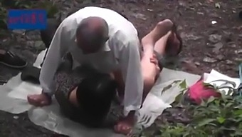 Asian Step Dad In The Forest 4