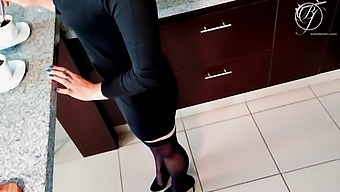 Checking Out The New Secretary At The Office Make Her Coffee