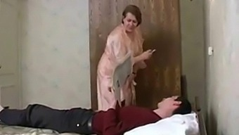 Russian Mature Stepmom And  Boy! Amateur!