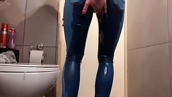 Compilation Of Wetting My Jeans And Pouring Out From My High Heels And Pants