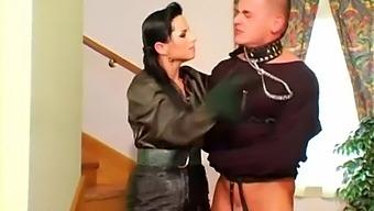 Beautiful Mistress Renata Black Enjoys Her Slave Boy