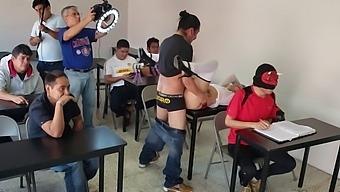 Behind The Scenes Of A Recording Of A Porn / Schoolgirl Porn Scene