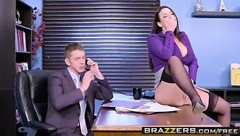 Big Tits At Work -  My Slutty Secretary Scene Starring Angela White And Markus Dupree