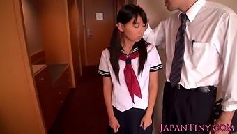Petite Japanese Slut Spunk Covered