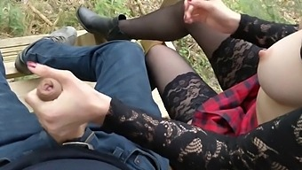 Ana_lingus - Got Horny In The Woods, Bj Fucking, Cum On My Ass And Cumwalk