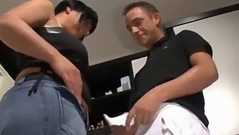 Busty German Brunette With Thick Ass And Tits Fucks Doggystyle In The Kitchen