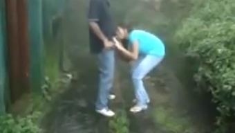 Public Amateur Couple Indian  Blowjob           Www.Oopscams.Com