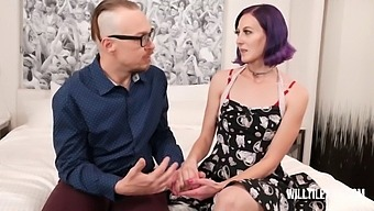 Purple Haired Hot Wife Gets Fucked By Big Dick Stud In Front Of Hubby