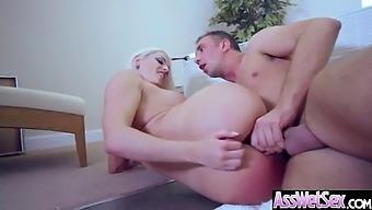 Anal Hardcore Sex Tape With Slut Big Curvy Ass Girl (Blanche Bradburry) Vid-14
