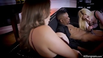 Lana Harding Fucks Big Black Cock As Jasmine James Plays With Her Wet Pussy While Watching