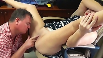 Security Camera In Office Lady Boss And Employee Pussy Lick Full