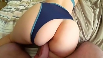 Sex Of A Young White Girl With A Big Ass Through Panties
