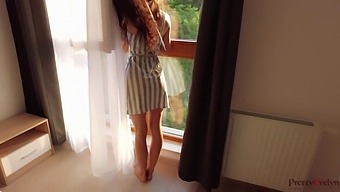 Fucking My Step Sister While She Looked Out The Window And She Was Waiting For Her Boyfriend