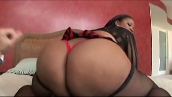 Ebony, A Blessed Milf Who Owns The Ass And Tits Of 2 Girls Loves It When Her Column Gets Visited And She Gets Fucked Neatly. This Is Her Ass Right In Resonant Vibration ....