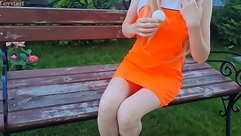 Hot Girl With Fake Ice Cream (Its Public Vibro Toy)