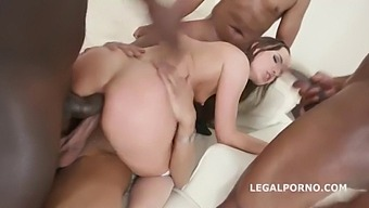Interracial 5 Bbc Gangbang Destroys Kristy Black'S Asshole With Double Anal