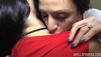 Milf Mindi Mink Seduced And Hooked Up With Ariella Ferrera
