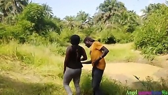 Okoro The Busy Hunter Caught Fucking One Pretty Local African Black With Vagina Lady Farming In Public, He Almost Finished Her With His Big Cock While Husband Brother Hiding And Capture Them By His Hiding Camera .Full Video On Red