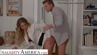 Naughty America - Kayley Gunner Wants A Promotion And She Will Fuck Her Boss For It!!