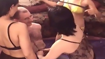 Old Man With 3 Teens Fucking
