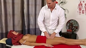 Hot Young Indian Slut Getting A Deep Tissue Massage On The Table