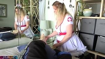 Stepmom Plays The Sexy Nurse For Hurt Stepson