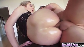 Big Oiled Ass Hot Girl (Dahlia Sky) Like And Enjoy Deep Anal Sex Mov-22